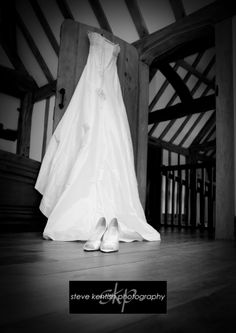 Cain Manor Wedding Photography  , brides dress and shoes