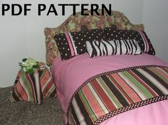 American Girl Doll Bed pattern