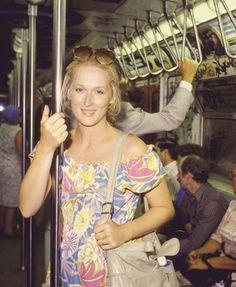 Meryl Streep on the subway.                                                                                                                                                                                 More