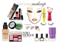 """matching makeup"" by cecjones ❤ liked on Polyvore featuring beauty, Nails Inc., Jacki Design, Vincent Longo, Maybelline and Balmain"