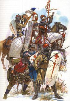 Caballeros y sargentos de la Orden Militar de Livonia. Más en www.elgrancapitan.org/foro