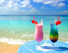 A cool tropical drink for 2......