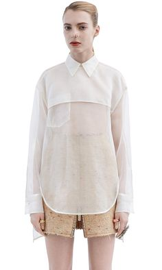 Sheer Organza Shirt - elegant contemporary fashion // Acne Studios | @andwhatelse