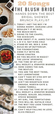 Hands Down the Best Bridal Shower Brunch Playlist Songs