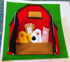 Busy Book - Barn and Finger Puppet Animals Page