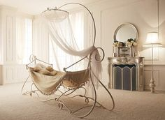 Charming Wrought Iron Canopy Bed/Indoor Hammock