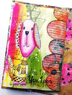 Susanne Rose Designs: Art Journal Page for Beginners Last page in my Mini Envelope Art Journal