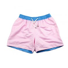 These light pink swim shorts, 'Miami.' named after the most desirable beach party destination in the world. Pink Shorts, Swim Shorts, Pink Swim, Tropical Colors, Destin Beach, Ss 15, Workout Shorts, Miami, Destinations