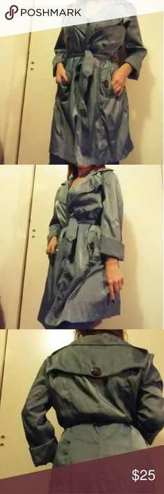 Gray Poetry Trench Coat Stunning trench coat by Poetry. Comes with the original belt. Size: L. I'm a Small but I liked the oversized look. Poetry Jackets & Coats Trench Coats