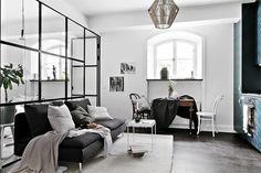 83 Rhythm Interior Design living rooms in Scandinavian style Appartement Design Studio, Studio Apartment Design, Apartment Interior Design, Modern Studio Apartment Ideas, Apartment Layout, Nordic Interior, Living Room Designs, Living Spaces, Tiny Studio Apartments
