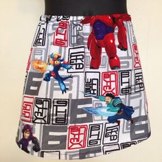 Ready to ship skirt made in Big Hero 6 fabric. by TheNerdyPrincess