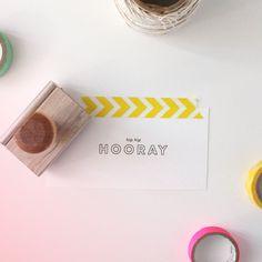 Hip Hip Hooray | Limited Edition Rubber Stamp | annmarielovespaper.bigcartel.com