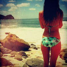 Looking out #eidon #ocean #eidonsurf #nica2014 #sky #clouds #nicaragua #sea #girl #bikini #beautiful #love #beach #butt #lookinggood #livetravelsurf #instagood #instamood