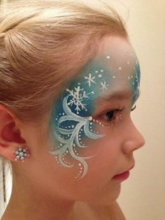Elsa Face Paint, Cool Face Painting Ideas For Kids… Elsa Face Painting, Painting For Kids, Body Painting, Princess Face Painting, Face Painting Designs, Paint Designs, Maquillage Halloween, Halloween Makeup, Halloween Party