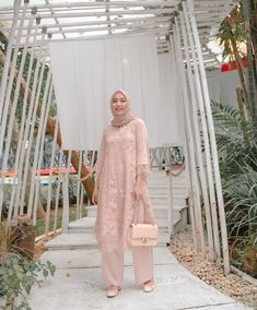 Image may contain: 1 person, standing and outdoor Kebaya Modern Hijab, Kebaya Hijab, Kebaya Dress, Dress Pesta, Dress Brukat, Hijab Dress Party, Hijab Style Dress, Party Dress Outfits, Dress Brokat Muslim