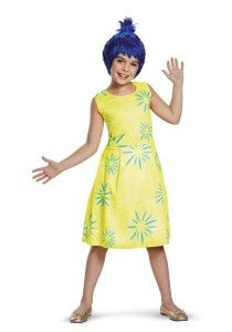 Disney Inside Out Joy costume comes in different sized for children. An adult version is available as well.