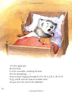 """""""Bedtime for Frances"""" by Russell Hoban, Garth Williams"""