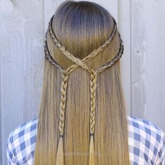 Magnificent Have you been a fan of simple tiebacks?  You'll definitely love this #CGHDblBraidback on @kamrinoelm!  For what type of event would you wear this hairstyle? {Tutorial link in b ..