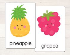 Set of 32 printable fruit and vegetable flash cards - great for any unit on healthy eating! #busylittlebugs #printables #etsy