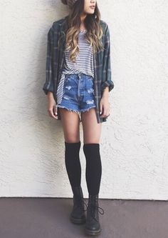 Knee High Socks must be worn right - not like this: I dont know why but to me Knee High Socks just look weird with shorts