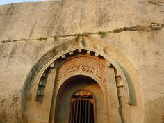 Barabar caves, Bihar, one of the oldest rock cut caves in India.