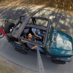 Rollin in the Jeep with sunroof Best Selfies, Gopro Photography, Gopro Camera, Selfie Stick, Gopro Hero, Digital Media, Jeep Wrangler, Monster Trucks, In This Moment