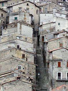 A Street in Scanno, Abruzzo, Italy