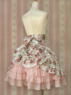 Love the back view of this Victorian Maiden skirt. $248