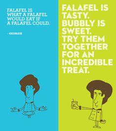 Hubbly Bubbly falafel shop restaurant branding