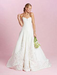 Oscar de la Renta strapless wedding dress