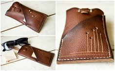 Handmade Leather Glasses Case Sun Glasses Case by ByHandStore
