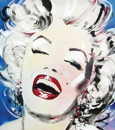 """*BOOK COVER ~ for the book """"Marilyn In Art"""" by Roger Taylor (one of my -K. Fairbanks- MM paintings appeared in this book, as well as 2 MM drawings by my sister)"""