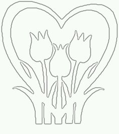 Kirigami, Paper Birds, Paper Flowers, Paper Art, Paper Crafts, Quilting Templates, Heart Template, Coloring Easter Eggs, Scroll Saw Patterns
