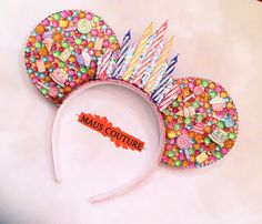Birthday Sparkle Minnie Ears by MausCouture on Etsy