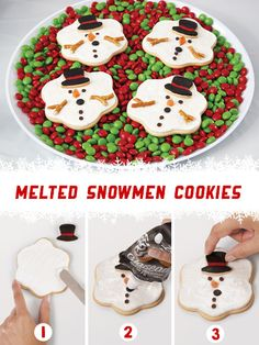 These melted Snowman Cookies will be gone before you know it! Get the tutorial and Cookie Cutter at @partycity