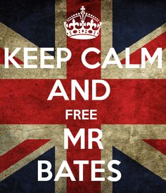 KEEP CALM AND FREE MR. BATES... he didn't do it you know. my mom and i have a theory that either it was suicide, or vera was killed by thomas or o'brien.