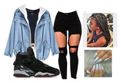 """Contest"" by woedatsclo ❤ liked on Polyvore featuring Tommy Hilfiger, NIKE and Miya"