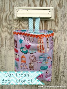 Learn how to sew a simple car trash bag pattern. Easy to sew and great for beginners.