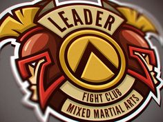 "Logo for Mixed Martial Arts club ""Leader"". on Behance"