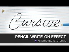 After Effects Video Tutorial: Pencil Write-On Effect - YouTube