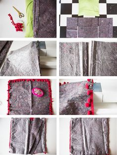 L A N A R E D S T U D I O: DIY | Painters Cloth Cushion Cover