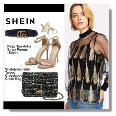"""shein"" by aminkicakloko ❤ liked on Polyvore featuring Gucci and Aspinal of London"