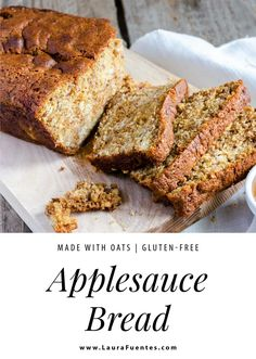 Say goodbye to unhealthy fats and high-calorie breakfasts with this gluten-free, allergy-friendly applesauce bread! Baking With Applesauce, Applesauce Bread, How To Make Applesauce, Gluten Free Sweets, Gluten Free Baking, Traditional Bread Recipe, Breakfast Bread Recipes, Gluten Free Breakfasts, Sweet Breakfast