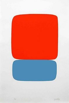 ellsworth kelly. Pick colors to fit color scheme in room. Make it on a big canvas