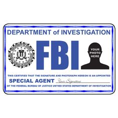 fbi id template fbi identification card from the identity props