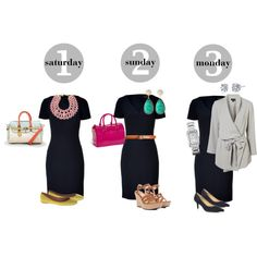 The Navy Dress: From Date Night to Monday Morning, created by royalsophistik8 on Polyvore