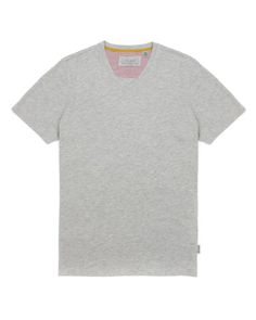 V neck t-shirt - Gray Marl | Tops & T-Shirts | Ted Baker
