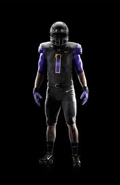 The University of Washington and Nike released a new collection of football uniforms for the 2014 season on Friday. The uniform release features three jerseys, four pants and three helmet colors that the Huskies can mix-and-match this season. College Football Helmets, Football Uniforms, Sports Uniforms, Uniform Design, University Of Washington, Comic Sans, Logo Color, Husky, Seasons