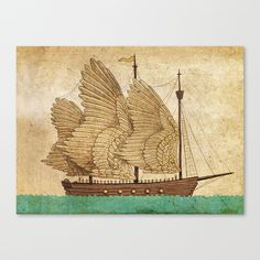Winged Odyssey Stretched Canvas by Terry Fan | Society6