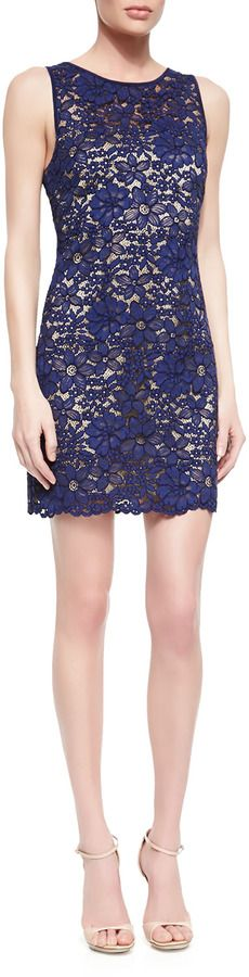 $298, Trina Turk Bissitti Floral Lace Dress. Sold by Neiman Marcus. Click for more info: https://lookastic.com/women/shop_items/67930/redirect